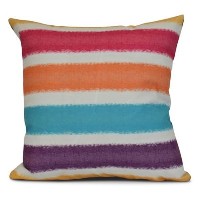 Fun Throw Pillows For Bed : Fun in the Sun Square Striped Throw Pillow - Bed Bath & Beyond
