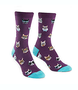 Sock It to Me Calcetines para mujer con estampado de gatos