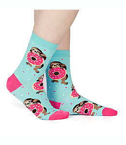 Calcetines para mujer Snackin' Sloth Sock It to Me