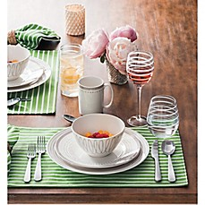 image of kate spade new york Charlotte Street™ Dinnerware Collection in Grey/White