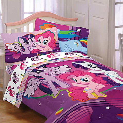 buy hasbro my little pony ponyfied 4 piece reversible. Black Bedroom Furniture Sets. Home Design Ideas