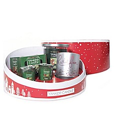 image of Yankee Candle® Balsam & Cedar 4-Piece Sentiments Hat Box Gift Set