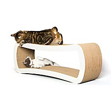 image of Petfusion Ultimate Cat Scratcher Lounge in White