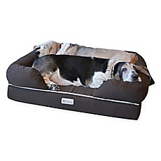 image of PetFusion™ Ultimate Large Pet Bed and Lounge in Brown