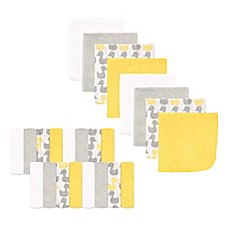 image of Luvable Friends® 24-Pack Duck Washcloths in Yellow/Grey