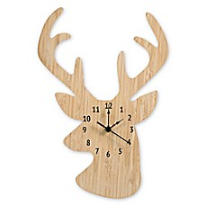 image of Trend Lab® Stag Head Wall Clock