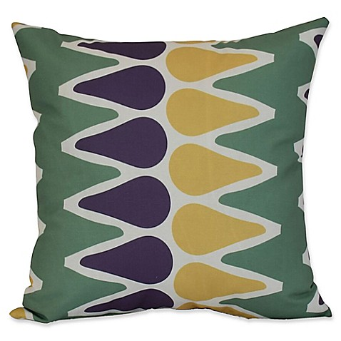 Buy E by Design Multicolored Picks Geometric Throw Pillow in Green from Bed Bath & Beyond