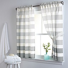 Dkny Highline Stripe 38 Inch X 45 Cotton Window Curtain Panel Pair