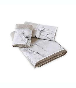 Toalla fingertip de algodón E & E Co. Marble color plata