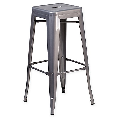 Buy Flash Furniture 24 Inch Backless Bar Stool In Clear