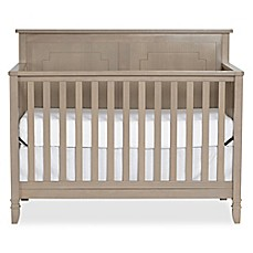image of Suite Bebe Asher 4-in-1 Convertible Crib in Blossom Grey