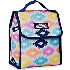 image of Wildkin Aztec Munch 'n Lunch Bag in Blue