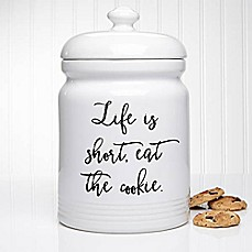 image of Kitchen Expressions 10.5-Inch Cookie Jar