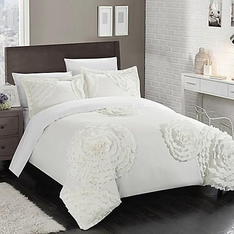 Buy Chic Home Lauretta King Duvet Cover Set In White From