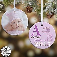 image of All About Baby Photo Birth Ornament
