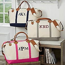 image of Luxurious Weekender Embroidered Canvas Duffle Bag Collection