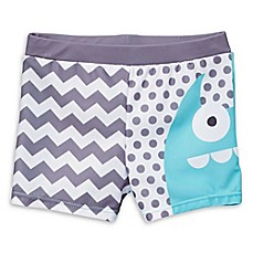 image of Doodle Pants Monster Swim Trunks in Blue