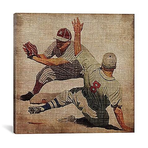 iCanvas Vintage Sports VII Square Canvas Wall Art - Bed Bath & Beyond