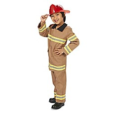 image of Tan Firefighter with Helmet Child's Halloween Costume
