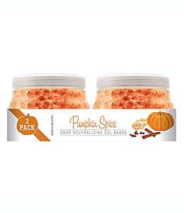 Smells Begone Perlas de gel neutralizadoras de olores Pumpkin Spice™, Paquete de 2 pzas.