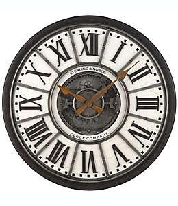 Sterling & Noble™ Reloj de pared estilo industrial con engranes de 73.66 cm