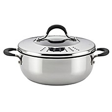 image of Circulon® Momentum™ Stainless Steel Nonstick 4 qt. Covered Casserole with Locking Lid