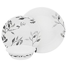 image of Corelle® Misty Leaves 12-Piece Dinnerware Set