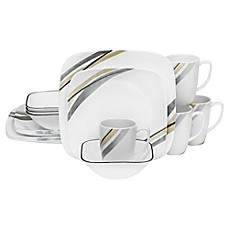 Corelle® Muret 16-Piece Dinnerware Set  sc 1 st  Bed Bath \u0026 Beyond & corelle livingware 32 piece dinnerware set | Bed Bath \u0026 Beyond