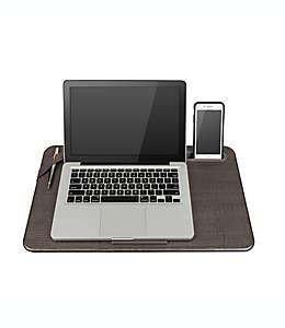 Escritorio portátil grande Deluxe Lapgear® en gris lino