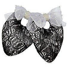 image of Protect My Shoes Bridal Lace Shoe Stuffers in Black/White