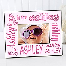 image of It's Me! Alphabet Name 4-Inch x 6-Inch Picture Frame