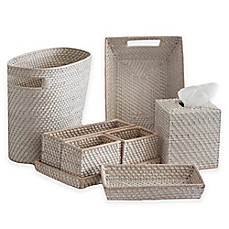 Image Of Biscayne Rattan Bath Accessories Collection