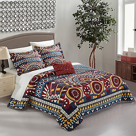 Chic Home Akeno 8-Piece Reversible Quilt Set