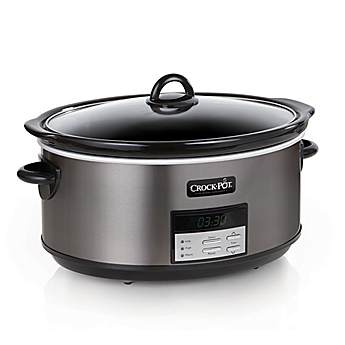 Crock Pot® 8 Qt. Programmable Slow Cooker In Black Stainless