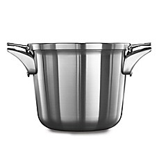 image of calphalon premier space saving stainless steel 45 qt soup pot with