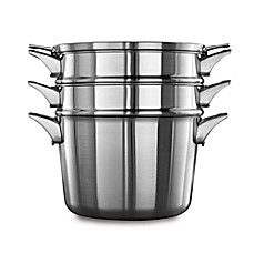 image of Calphalon® Premier™ Space Saving Stainless Steel 8 qt. Multi-Pot