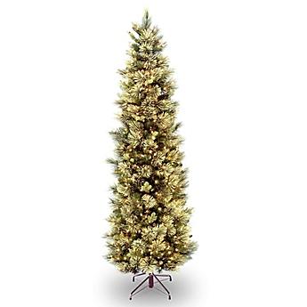 National Tree Company Pre Lit Carolina Pine Slim Artificial Christmas Tree