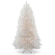 image of national tree company dunhill white fir pre lit christmas tree - White Pre Lit Christmas Tree