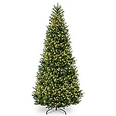 image of national tree company pre lit feel real fraser slim fir artificial christmas tree - Christmas Tree Slim