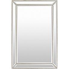image of surya pratt 47inch x 32inch wall mirror in silver