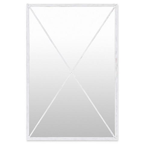 Buy surya aina 60 inch x 40 inch floor mirror in white for Mirror 40 x 60