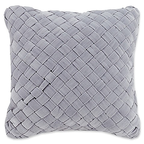 Vera Bradley® Woven Velvet Square Throw Pillow in Grey