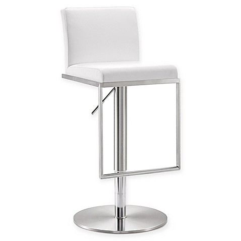 Tov Furniture Amalfi Steel Adjustable Bar Stool Bed Bath