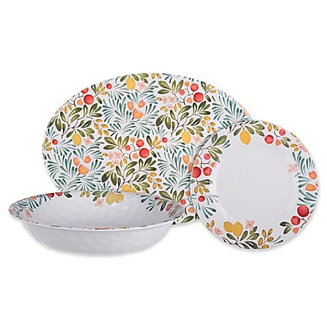Country Orchard Melamine Dinnerware Collection - Bed Bath & Beyond