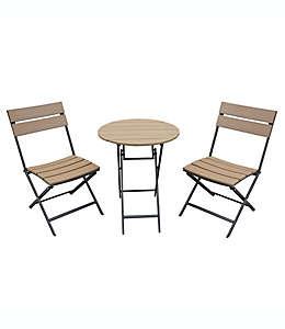 Set de muebles plegables para exteriores, Metro 3 piezas