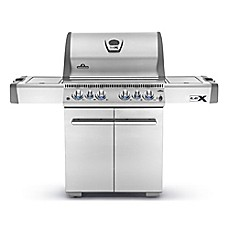 image of Napoleon LEX485 6-Burner Propane Gas Grill with Infrared Side and Rear Burners in Stainless Steel