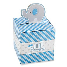 image of Kate Aspen® Little Peanut Elephant Favor Boxes in Blue (Set of 24)