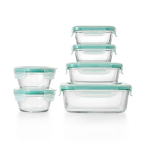 image of oxo good grips smart seal 12piece container set in clear