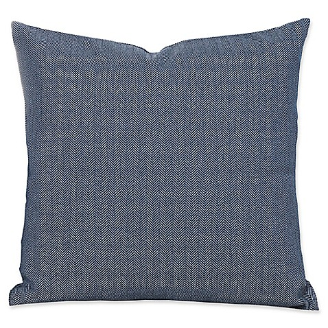 Everlast Herringbone 26-Inch Square Throw Pillow in Blue/Grey - Bed Bath & Beyond