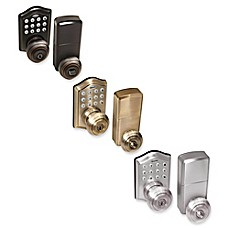 image of Honeywell Electronic Entry Knob Door Lock with Keypad